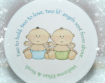 Baby Shower Favors - Twins - Twin Shower - Shower Favors - Unique Shower Favors - Whipped Body Butter, Boy Twins, Girl Twins, Boy Girl Twins