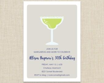 Adult birthday invitations. Margarita Invitation
