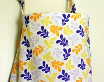 Clearance Nursing Cover Up - Purple Morning Tides Leaves - Perfect for the Modest Nursing Mom