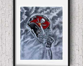 Tampa bay buccaneers Art Print 16x20