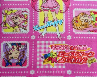 SALE! Fabric Glitter Force Japanese Pretty Cure Precure Anime Manga Girls FAT QUARTER and more