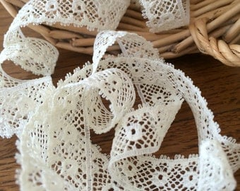 Vintage Cream Lace - 3/8 inch Lace Trim by the yard
