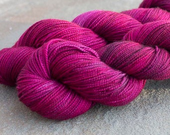 Hand Dyed Sock Yarn, Vampire Kiss Colorway