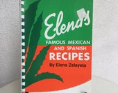 Vintage Elena's Famous Mexican and Spanish recioes by Elena Zelayeta paperback
