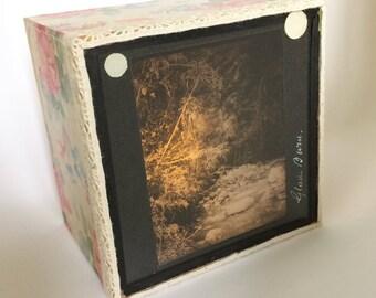 Magic lantern Slide Light Box/Landscape Photo Ornament/ decoration