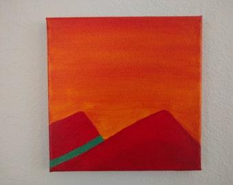 Cascades - 8x8 Original Acrylic Painting on Canvas