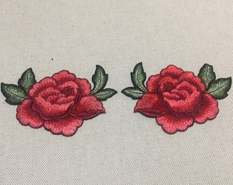 Embroidered Floral Appliques