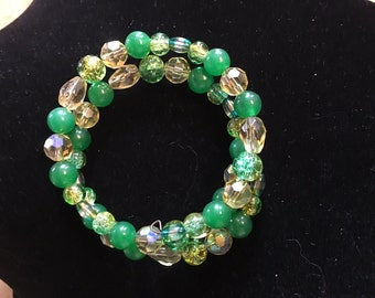 Green & Gold Spiral Bracelet Packers