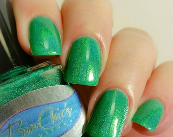 Bright Holographic Nail Polish