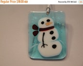 Holiday Sale Fused Glass Snowman Ornament - BHS03500