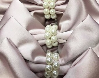Pearl Napkin Rings, Simply Elegant for Wedding and Special Events, Gatsby, vintage, classic style