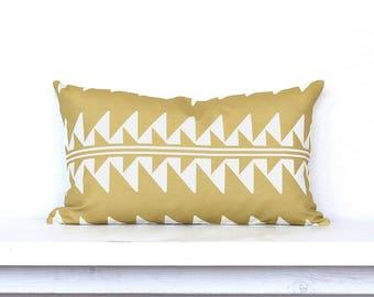 Arrow Lines Lumbar Pillow Cover - Honey Combo