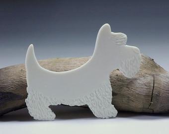 Scottish Terrier, Scotty Porcelain Gift Tag