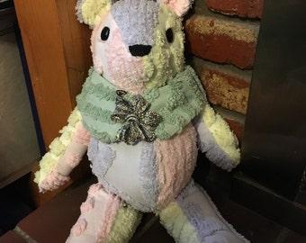 Chenille Memory Teddy Bear Keepsakes