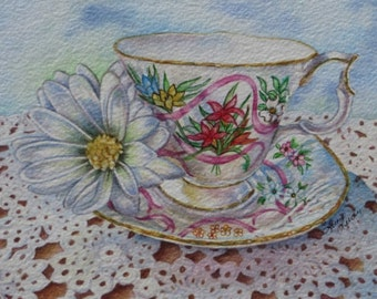 Forever Yours Teacup Art Print