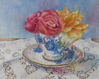 Celebration Teacup Art Print