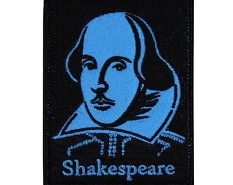 "Famous Figure ""Shakespeare"" Iron-On Patch School & Learning DIY Craft Applique"