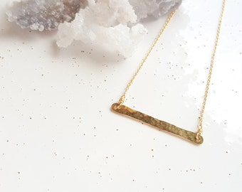 14k Gold-filled Horizontal Bar Necklace