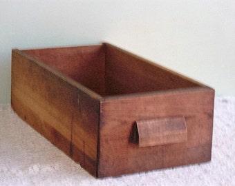 Antique Oak Wood Desk Drawer