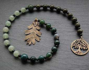 Sacred Grove Pagan Prayer Beads. Pagan Druid Druidry Witch Brigid Brighid Elen Cernunnos Herne Nemetona Green Man Forest Woodland