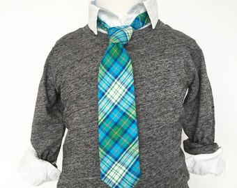 Dark Green and Teal Necktie