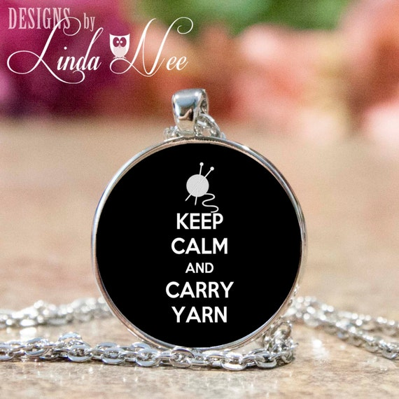 Keep Clam and Carry Yarn Pendant and Necklace