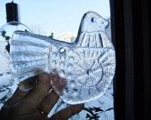Vintage Swedish glass Suncatcher - Bird - Pukeberg Glass