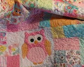 Custom owl quilt with embroidery