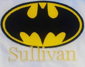 Personalized Batman machine embroidered shirt...batman...birthday