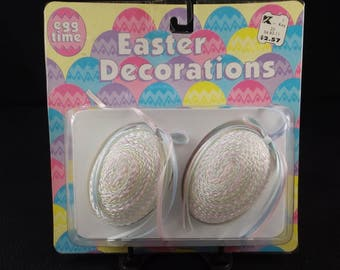 Set of Two (2) Easter Egg Ornaments