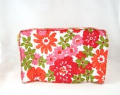 Mid Century Mod Floral Toaster Cover, Quilted Plastic, Vintage Kitchen Decor, 1970s