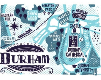 Durham limited edition screen print
