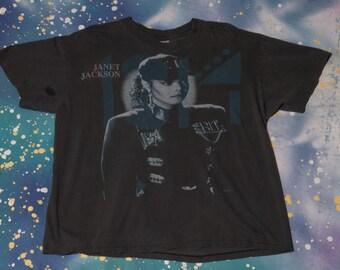 1990 JANET JACKSON Tour T-Shirt Size XL Concert