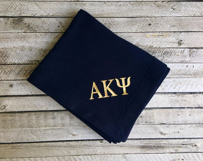Monogrammed blanket, Throw Blanket, Monogrammed gifts, Personalized gifts, Graduation Gifts, Greek, Sorority gifts, Fraternity gifts