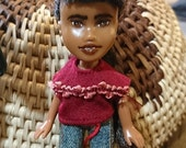 Tiny Farmers Market Doll, by Mirthitude, a doll house makeunder repaint