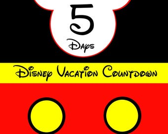 Disney Countdown - Personalized PRINTABLE - Mickey Inspired