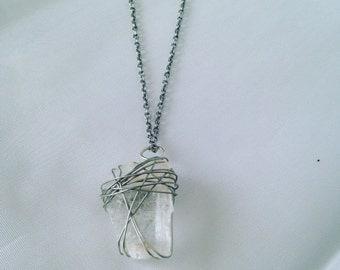 Gypsum Crystal Necklace