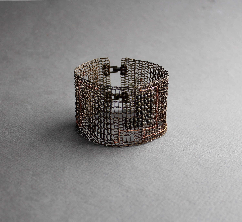 Schema breit Herren Statement Kupfer Armband ungewöhnliche