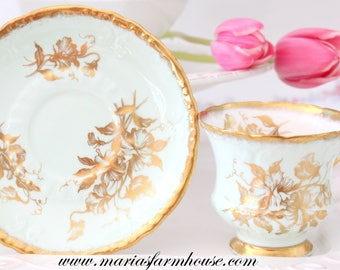 Vintage, Fine English Bone China Tea Cup and Saucer by Appointment to Her Majesty the Queen by Paragon, Replacement China