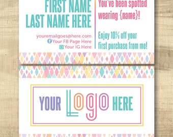 LuLa Business Cards, LLR You've Been Spotted Cards, Home Office Approved fonts, HO approved colors, LuLa Marketing, LLR Marketing, Roeing