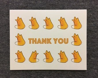 Fox Thank You: 4x6 Card
