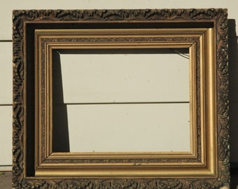 Vintage Ornate Wood Frame...Gold and Brown