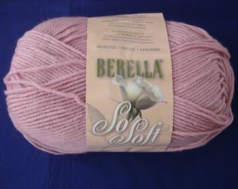 Berella So Soft Knitting Worsted Light Rose 5 oz