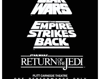 """Star Wars 1985 """"Trilogy"""" One Time Only 24 x 36 Reproduction Movie Poster - Collectibles Collector Collection Memorabilia Gift Sci-Fi"""