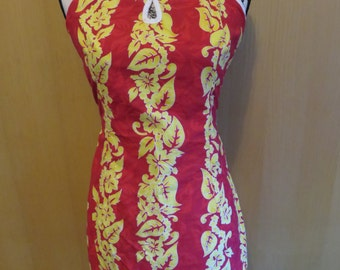 Vintage Hawaiian Mini Dress by Miken