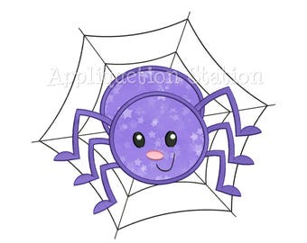 Cute Bugzee Spider Applique Machine Embroidery Design boy/girl baby insect bug INSTANT DOWNLOAD