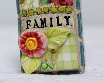 FAMILY, mosaic wall art, gift, mosaic, mosaic art