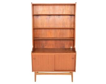 Danish Mid Century Modern Teak Bookcase by Nexø