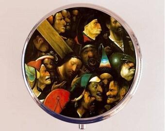 Hieronymus Bosch Pill Box Case Pillbox Holder Stash Trinket Box Christ on the Cross Fine Art Painting
