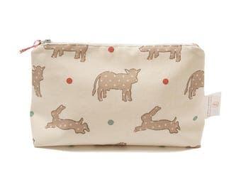Wash Bag - On the Farm Print | Limited Edition Wash Bag | Farm Animal Print Bathroom Bag